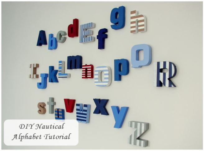 DIY Nautical Alphabet tutorial