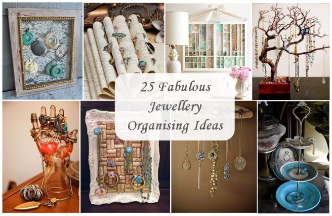 25 fabulous jewellery organising ideas