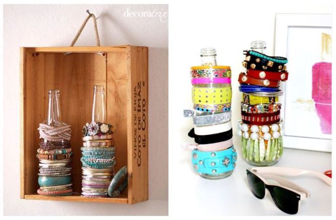 Bottle Jewellery Bracelet Holder Organizer