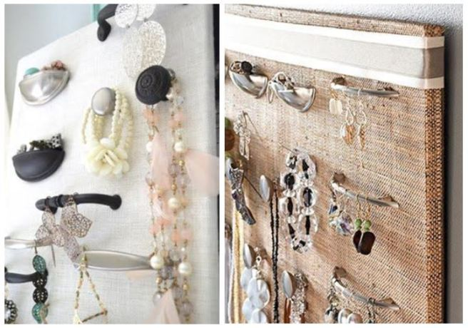 Cupboard Door Handles Jewellery Holder Organizer