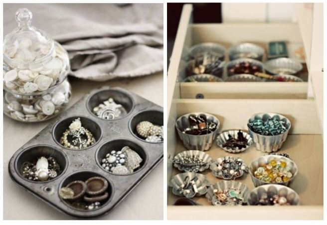 Cupcake Tins Forms Jewellery Holder Organizer