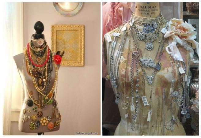 Mannequin Dress Form Jewellery Necklace Holder Organizer