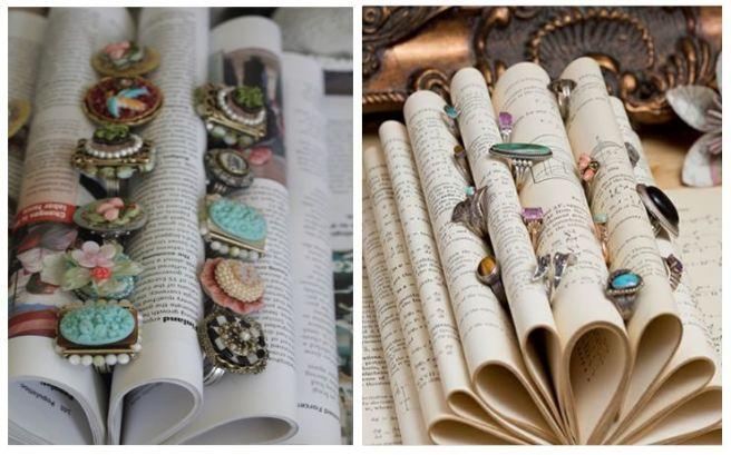 Old Book Ring Jewellery Holder Organizer