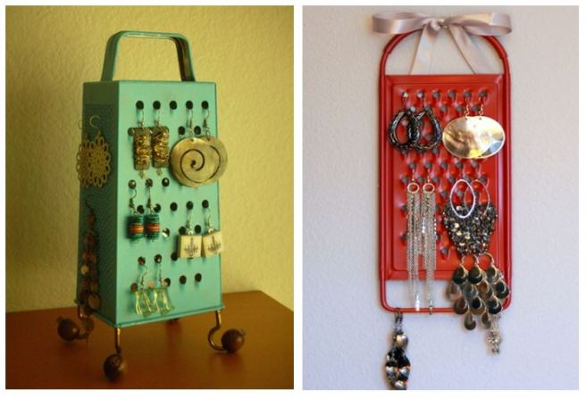 Old Grater Jewellery Earring Holder