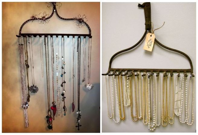 Old Rake Necklace Jewellery Holder Organizer