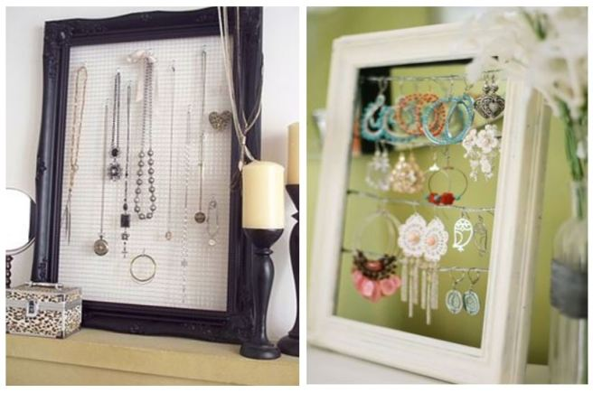 Picture Frame Wire Jewellery Holder Organizer