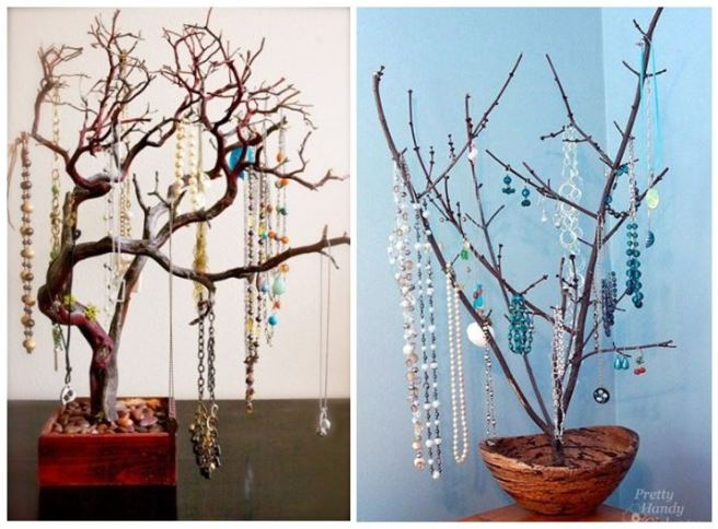 Tree Branches Jewellery Necklace Holder Organizer