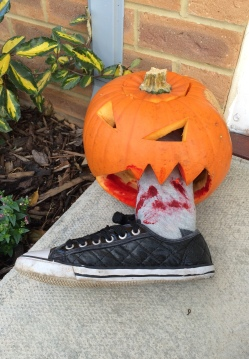 Bloody Leg Foot Hallween Pumpkin