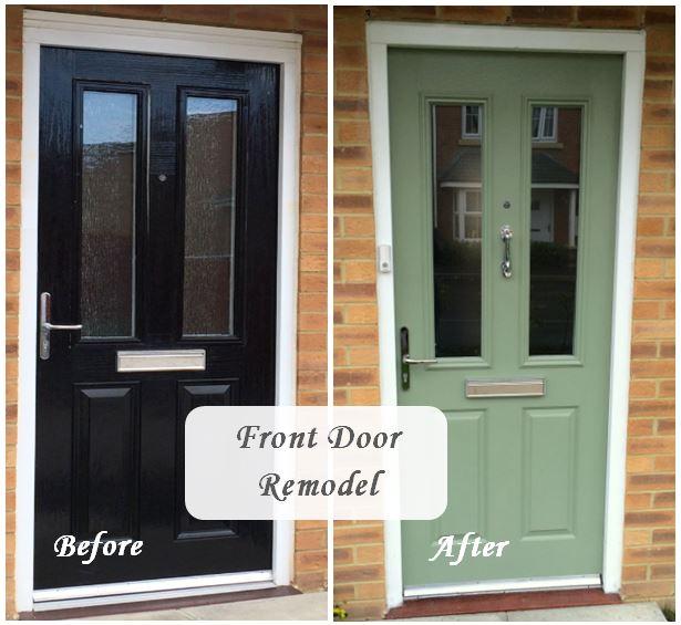 Sage Mint Front Door Remodel