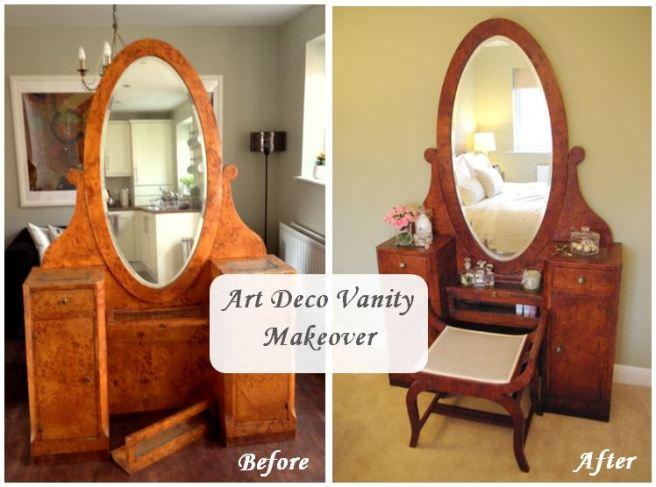 Art Deco Vanity Makeover