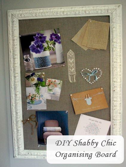 DIY Shabby Chic Organising Mail Pin Cork Board