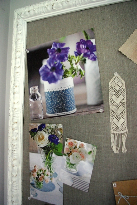 DIY Shabby Chic Organising Mail Pin Cork Board1